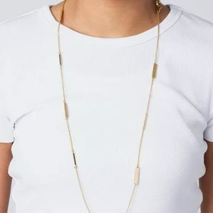 Kate Spade long raising the bar scatter necklace